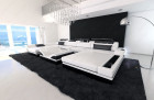 Modern Leather Sofa Chicago with LED white-black