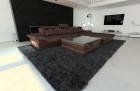 Design Fabric Sofa San Francisco L Shaped brown - Hugo 8