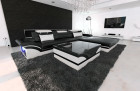 Modern Corner Sofa Orlando LED L - Shaped black-white