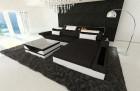 Fabric Sofa Orlando with LED lights black - Hugo 14