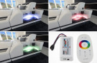 LED lights (RGB) with touch wheel remote