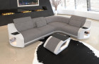 Upholstery Columbia sofa with Chesterfield quilting in structured fabric Hugo 3 - light grey
