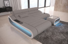 Design Sectional Sofa Concept Microfiber - grey Mineva 12