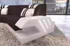 Fabric couch Sectional Sofa Beverly Hills C textured fabric dark brown - Hugo 10
