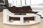 Upholstered Couch Swing XXL with LED lighting in Mineva 7 - dark brown