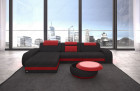 Couch Charlotte leather red fabric black Mineva 14