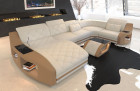 modern fabric living landscape Palm Beach with Recamiere in Mineva 1 - ivory