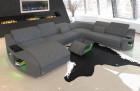 XXL sofa Palm Beach with Chesterfield pattern in Mineva 15 - grey