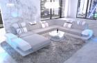 XXL sectional sofa fabric Beverly Hills XXL structured fabric gray - Hugo 2