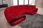 Luxury Sofa Couch Concept LED lights - Microfibre Fabric red Mineva 20