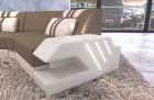 Fabric Couch Sectional Sofa Apollonia microfibre taupe - Mineva 21