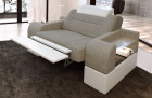 Relax armchair modern Orlando LED in with opt. relax function - grey Hugo 4