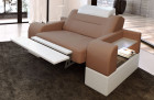Armchair Upholstery Orlando LED in with opt. relax function - cappuccino Mineva 21