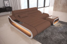 Design Sectional Sofa Concept Microfiber - brown Mineva 5