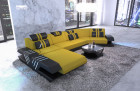 Fabric sofa Sectional Sofa Beverly Hills C microfibre yellow - Mineva 3