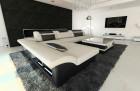 Corner Sofa Chicago with LED Lights - color ivory Hugo 1