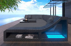 Patio Furniture Outdoor Sofa New York U Shape with Lights black-grey
