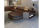 design sofa Dallas u shaped darkbrown-sandbeige