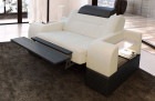 Relax armchair modern Orlando LED in with opt. relax function - ivory Hugo 1