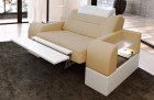Designer armchair modern Orlando LED in with opt. relax function - sandbeige Mineva 4