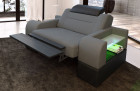 Armchair Design Orlando LED in with opt. relax function - grey Mineva 15