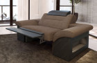 Recliner modern armchair Chicago LED with opt. relax function - brown Hugo 8