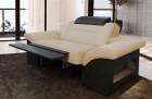 Designer armchair modern Chicago LED with opt. relax function - sandbeige Mineva 4