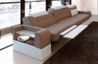 3 seater couch sofa San Francisco with electric relax function cappuccino Mineva 21