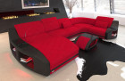 elegant fabric sofa Palm Beach with LED lighting in MIneva 20 - red