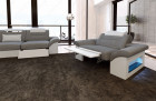 Fabric Chicago suite with recliner LED - light grey Hugo 5