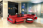 Luxury sectional sofa Chesterfield Optik Charlotte U Form - Leather red