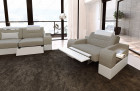 San Francisco suite with electric recliner LED - light grey Hugo 4