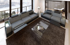 Orlando seating area with electric relaxation function LED - grey Hugo 5