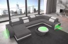 Fabric sectional sofa Charlotte U Form Chesterfield Sofa - grey Hugo 5