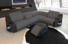fabric sofa Columbia corner sofa in structured fabric Hugo 5 - grey