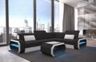 Small Luxury Sofa Seattle LED lights and USB - Fabric Hugo 14