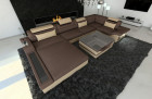 Design Fabric Sofa Orlando U Shaped darkbrown - Hugo 8