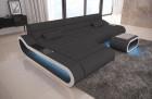 Design Sectional Sofa Concept Microfiber - grey Mineva 8