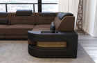 Sofa Couch modern L Shape - Microfiber brown Hugo 8