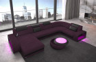 fabric sectional sofa Charlotte microfibre Chesterfield optics - purple Mineva 13