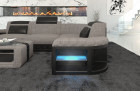 Corner Sofa with LED lights - Structured Fabric Hugo 3