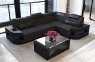 Design Sectional Sofa Microfiber - schwarz Mineva 14