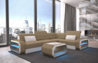 Small Luxury Sofa Seattle LED lights and USB - Fabric Mineva 6