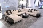 sectional sofa fabric sofa Beverly Hills XXL microfibre ivory - Mineva 1
