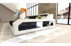 Sofa Couch modern L Shape relax Ottoman - Microfiber black Hugo 14