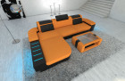 design fabric Sofa Boston L Shaped orange - Microfaser 16