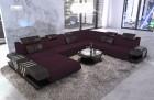 Luxury sectional sofa fabric Beverly Hills XXL microfibre lilac - Mineva 13