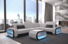 Modern Sectional Sofa Seattle LED lights - Fabric Mineva 2