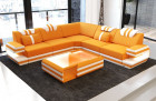 Design Fabric Sofa San Antonio L Shaped with microfibre fabric Mineva 16 - orange