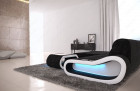 Corner Sofa Couch Concept LED lights - Fabric black Hugo 14